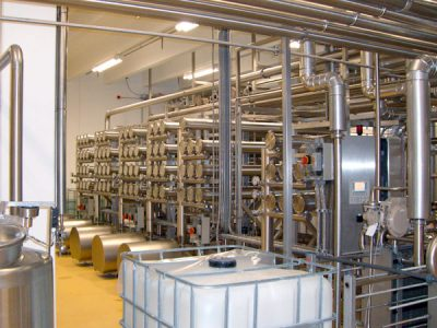 Machine Room for Milk Processing